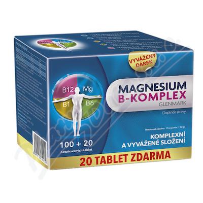 Magnesium B-komplex Glenmark 100+20 potah.tablet.