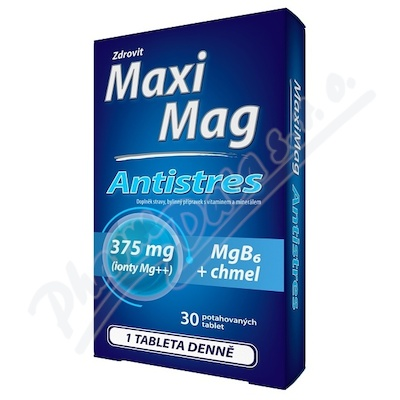 MaxiMag Antistres 375mg Mg+B6+chmel 30 tablet